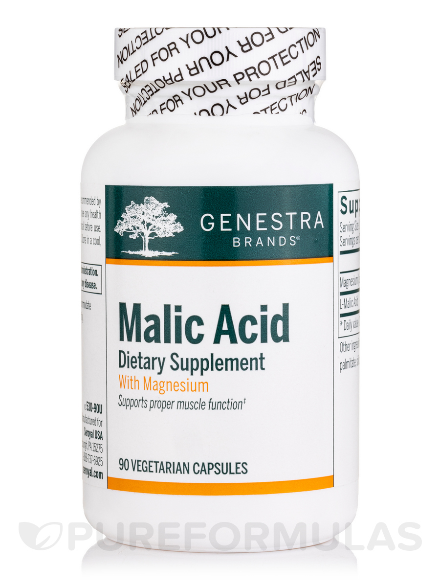 Malic Acid - 90 Vegetable Capsules