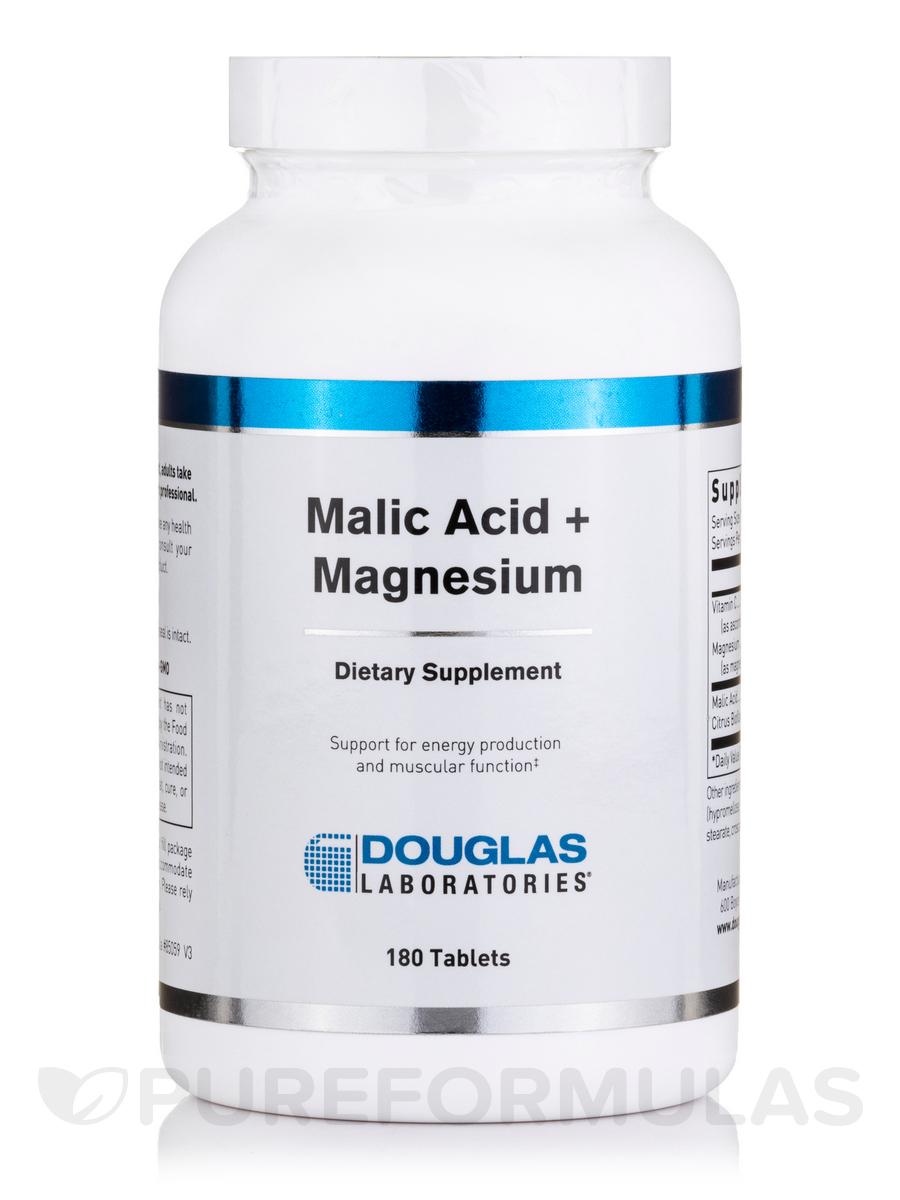 Malic Acid + Magnesium - 180 Tablets