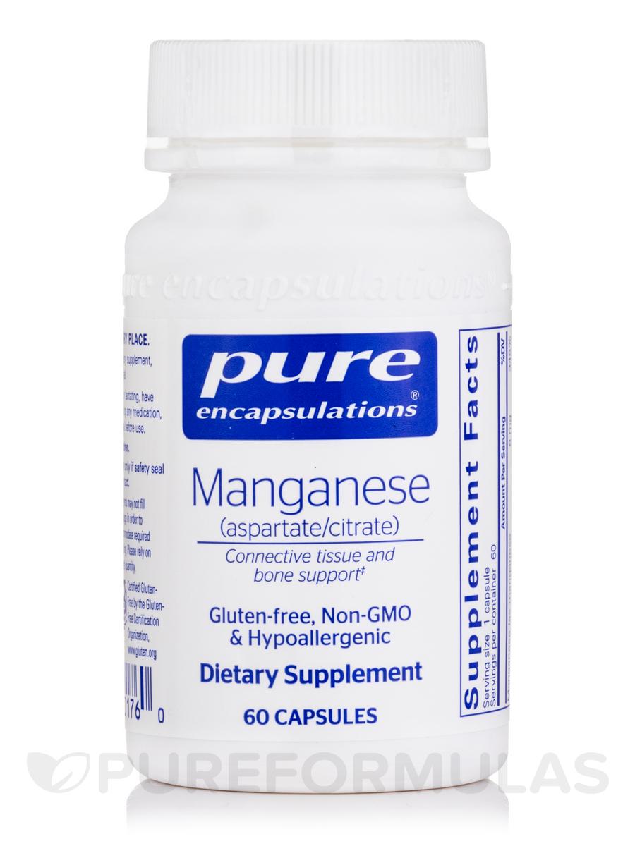 Manganese (Aspartate/Citrate) - 60 Capsules