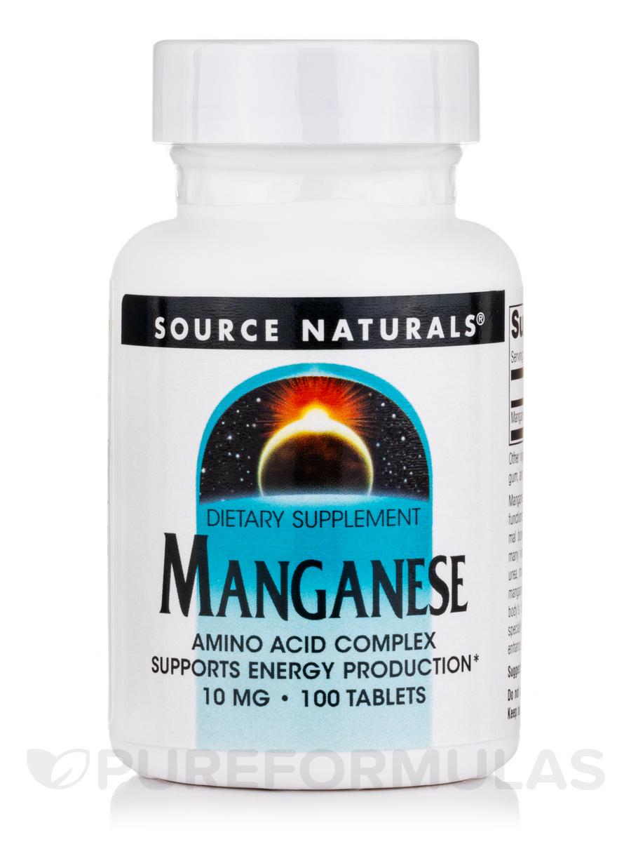 Manganese (Amino Acid Chelate) 10 mg - 100 Tablets
