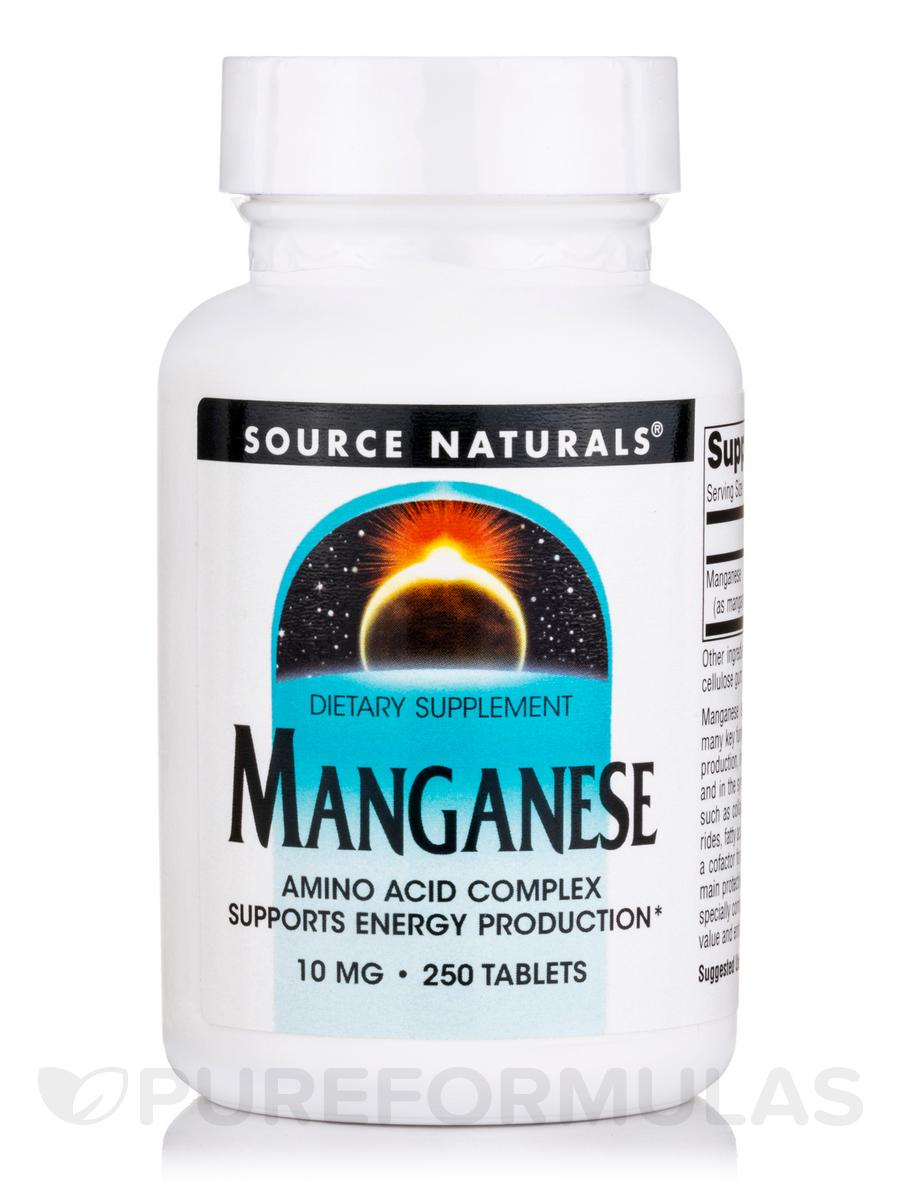 Manganese Chelated 15 mg - 250 Tablets