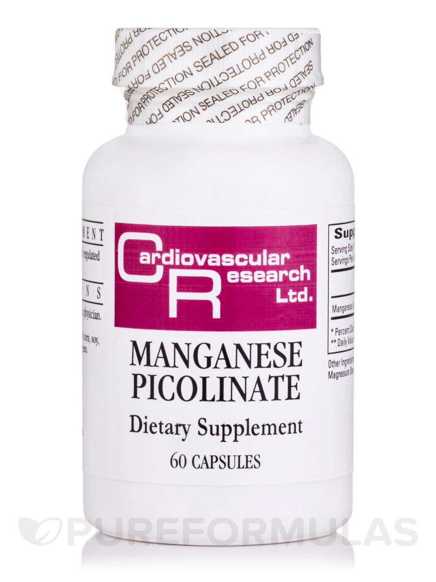 Manganese Picolinate - 60 Capsules