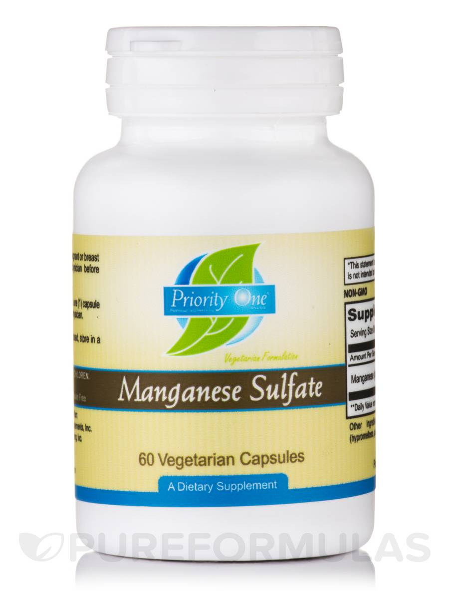 Manganese Sulfate - 60 Vegetarian Capsules