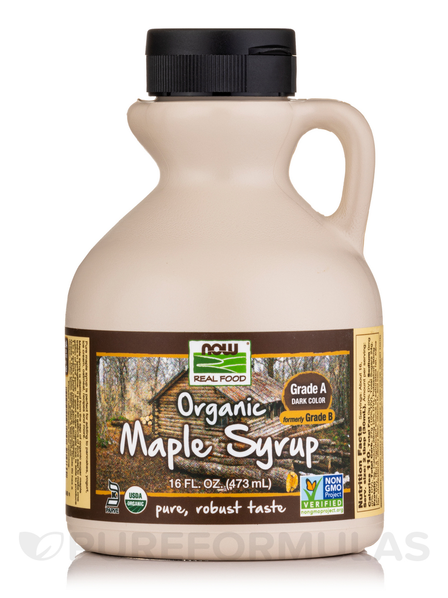 NOW® Real Food - Organic Maple Syrup (Grade A Dark Color) - 16 fl. oz (473 ml)