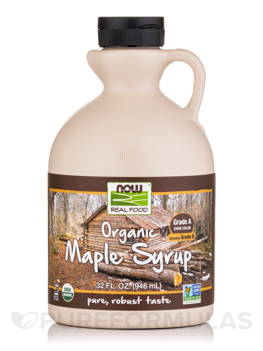 NOW® Real Food - Maple Syrup Organic Grade B - 32 fl. oz (946 ml)