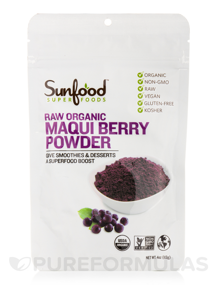 Maqui Berry Powder Raw Organic 4 Oz 113 Grams