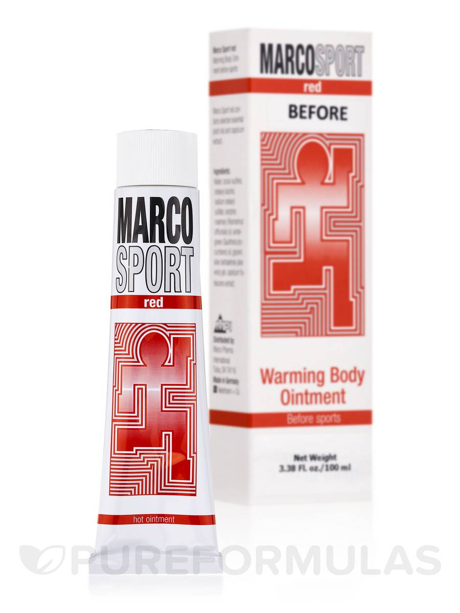 Marco Sport red Warming Body Ointment Before Sports - 3.38 fl. oz (100 ml)