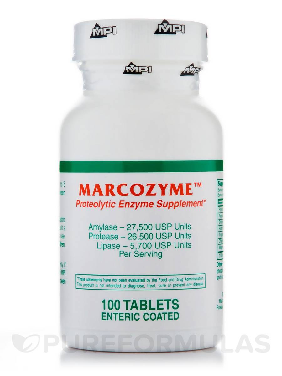 MarcoZyme™ - 100 Enteric-Coated Tablets