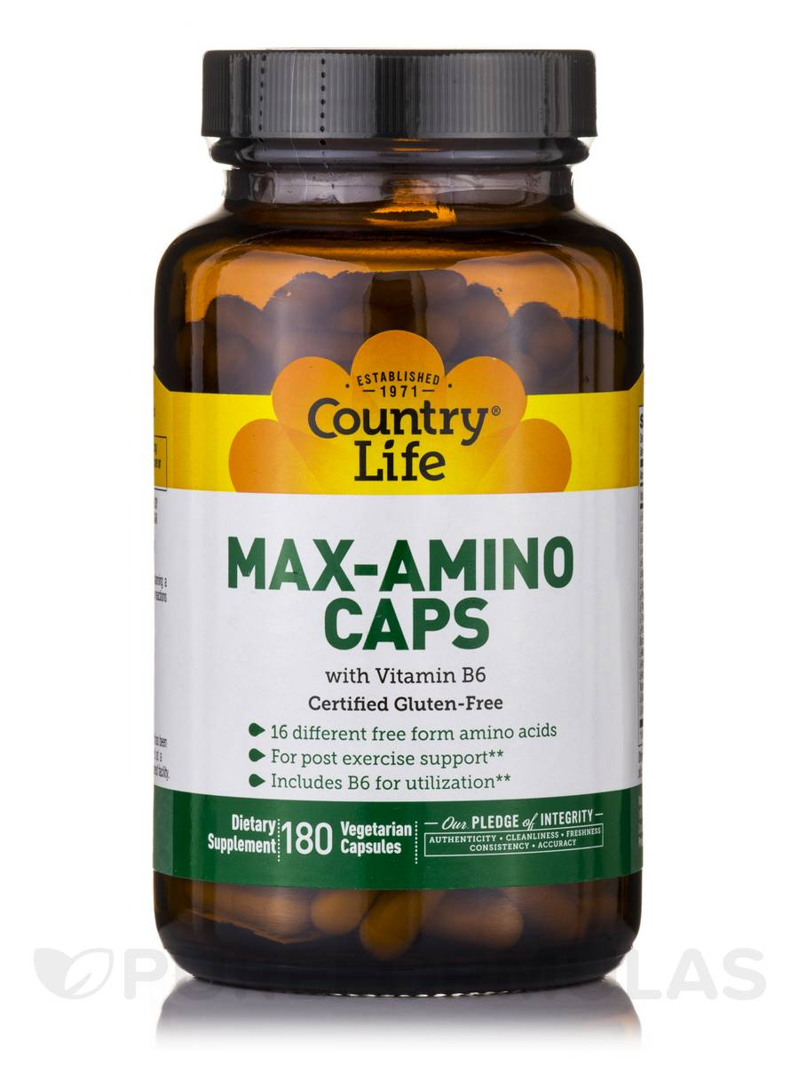 Max Amino Caps with B-6 - 180 Vegetarian Capsules