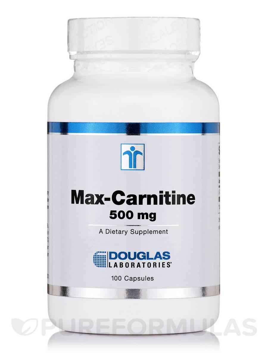 Max-Carnitine 500 mg - 100 Capsules