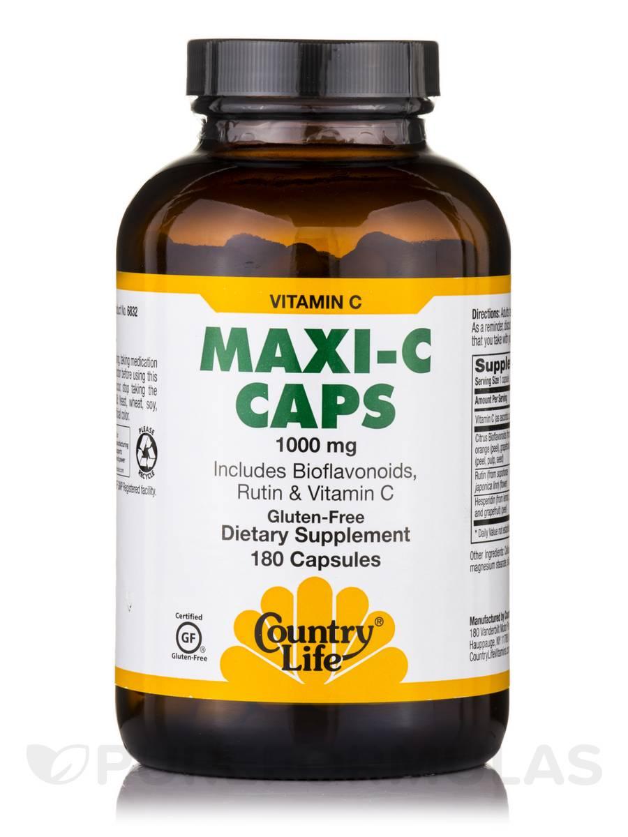 Maxi C Caps 1000 mg - 180 Capsules