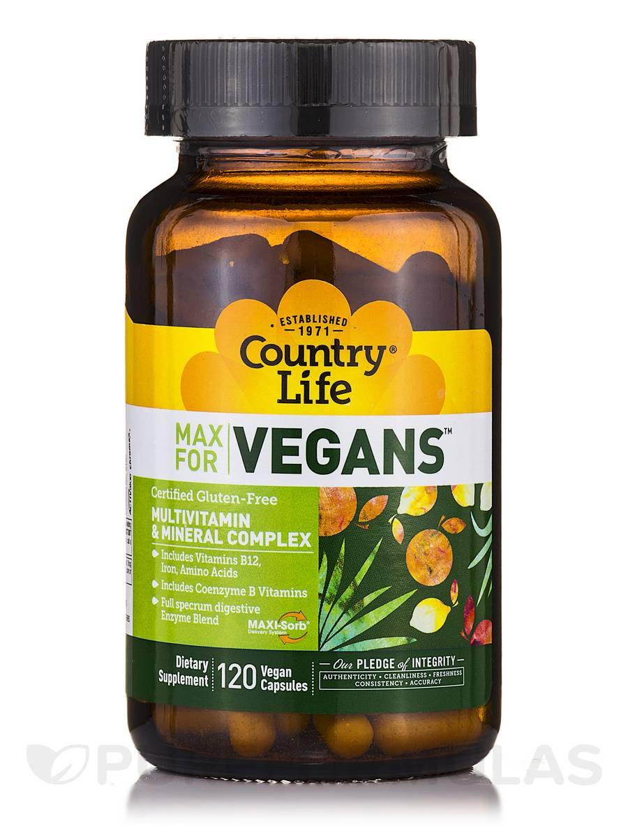MAX for Vegans™ - 120 Vegan Capsules