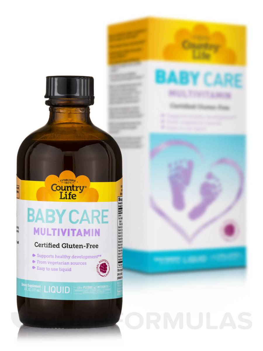 Baby Care Liquid Multivitamin (Natural Raspberry Flavor) - 6 fl. oz (177 ml)