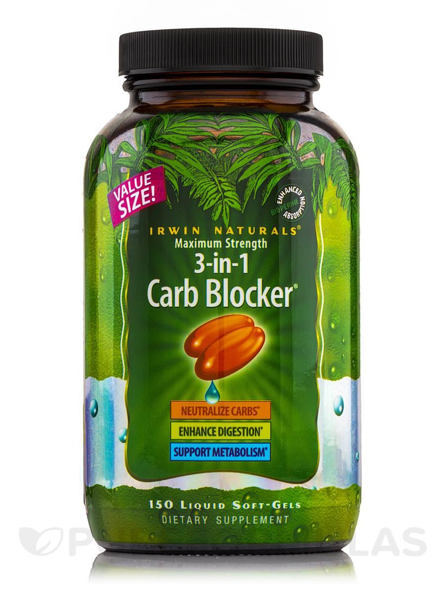 Maximum Strength 3-in-1 Carb Blocker - 150 Liquid Soft-Gels