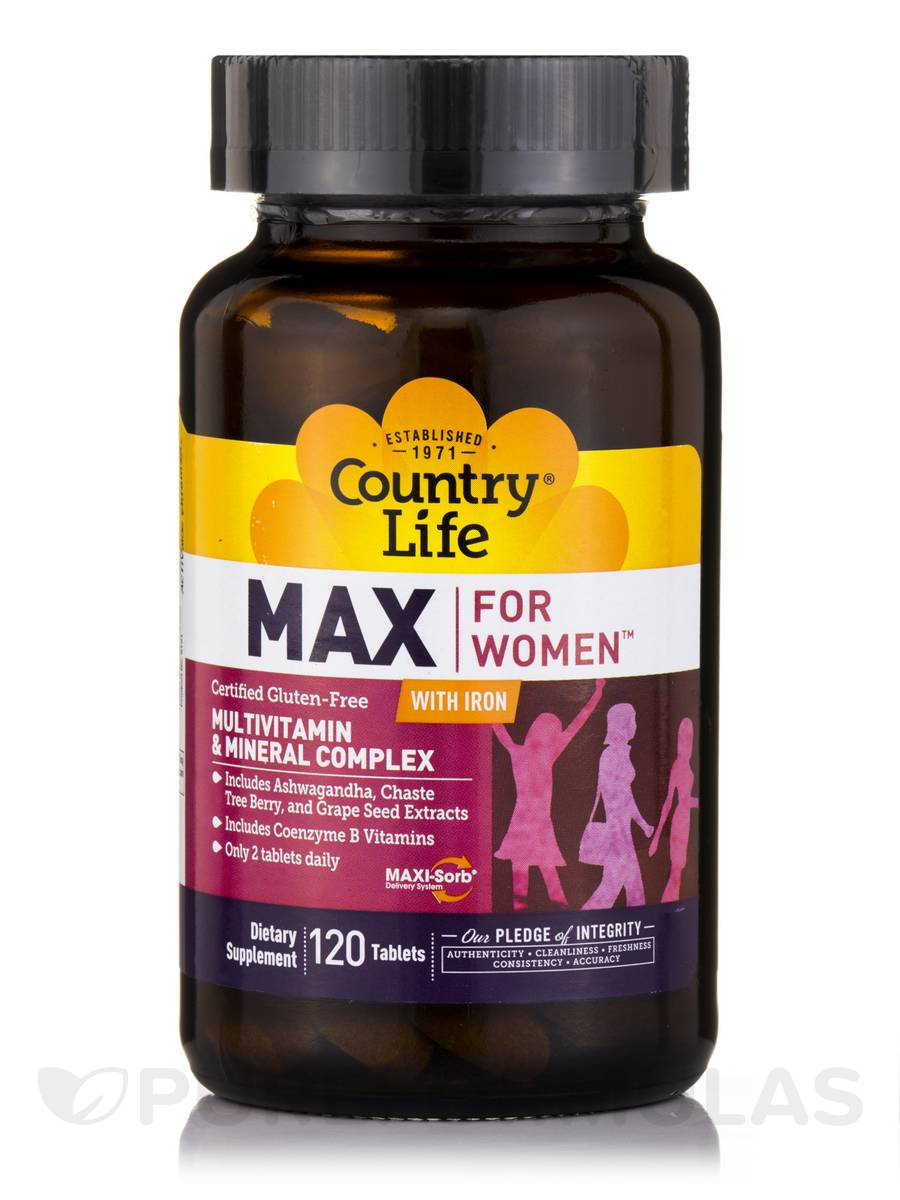 Max for Women™ with Iron - 120 Tablets