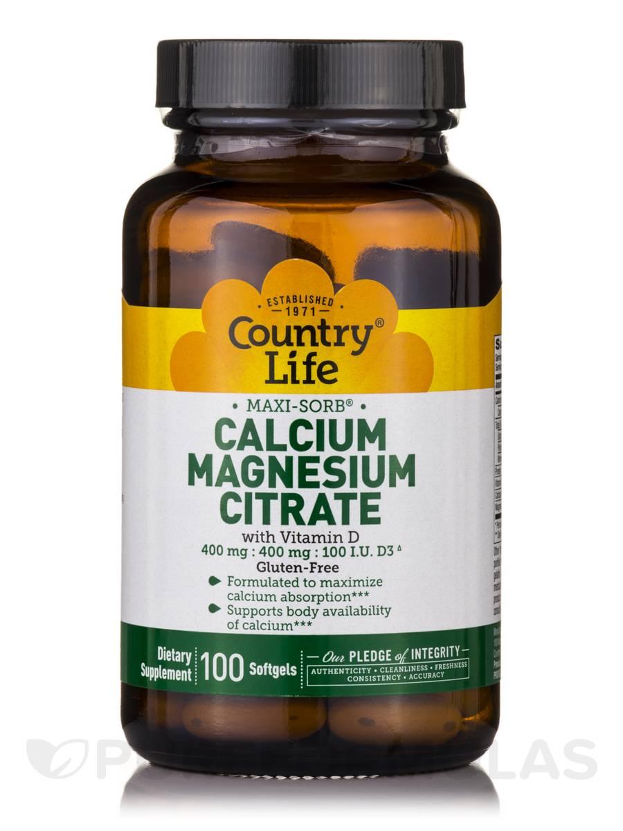 Maxi-Sorb Cal/Mag Citrate with Vitamin D - 100 Softgels