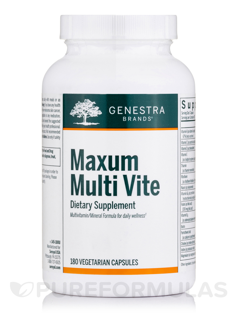Maxum Multi Vite - 180 Vegetable Capsules