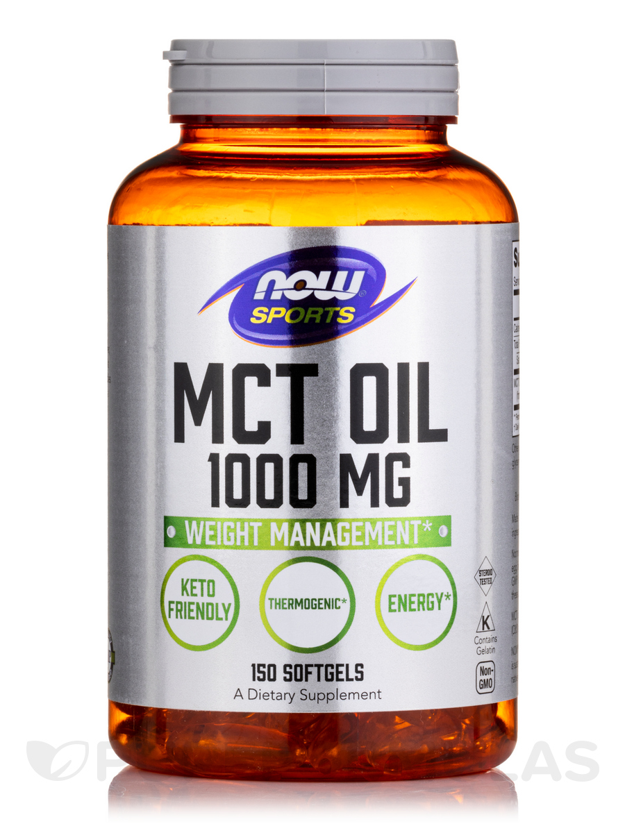 NOW® Sports - MCT Oil 1000 mg - 150 Softgels
