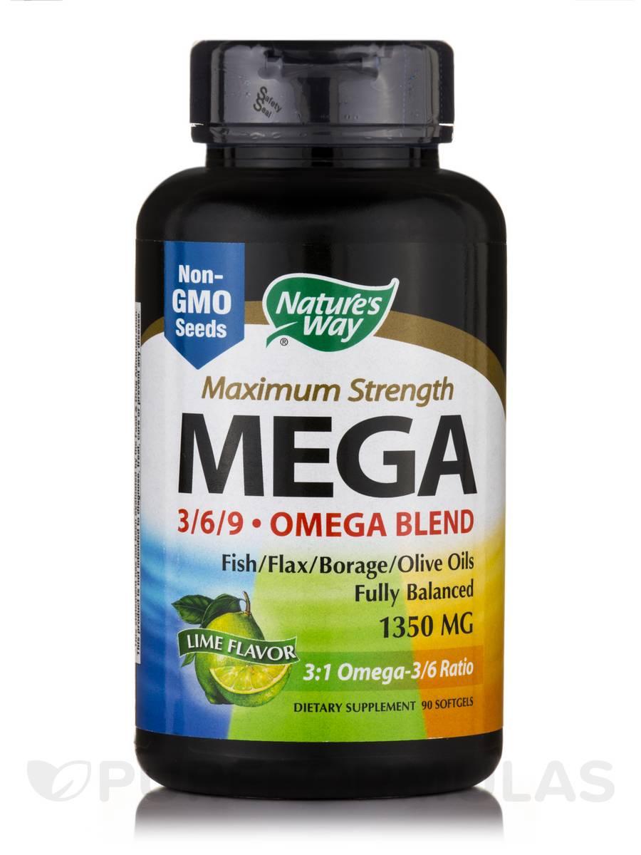 Mega 3-6-9 Blend 1350 mg - 90 Softgels