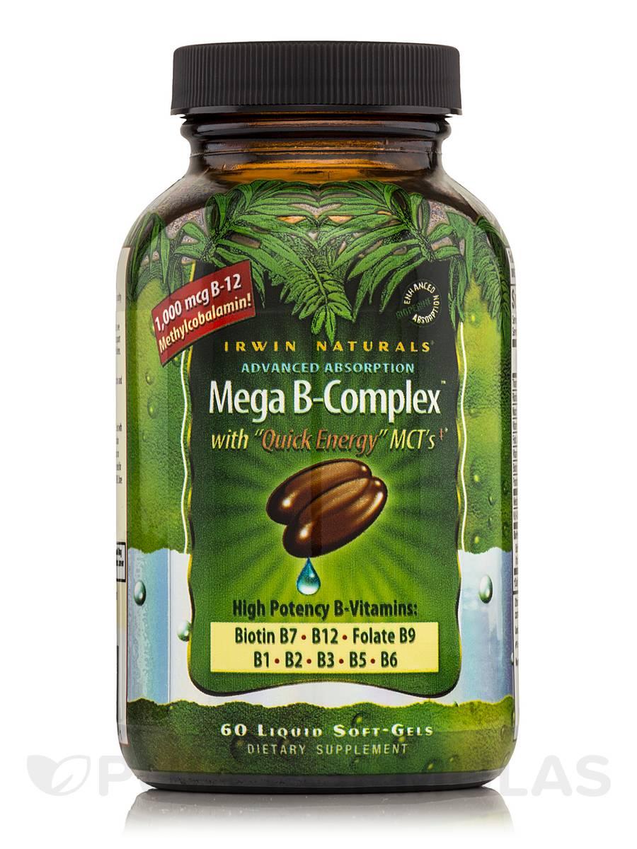 Mega B-Complex - 60 Liquid Soft-Gels