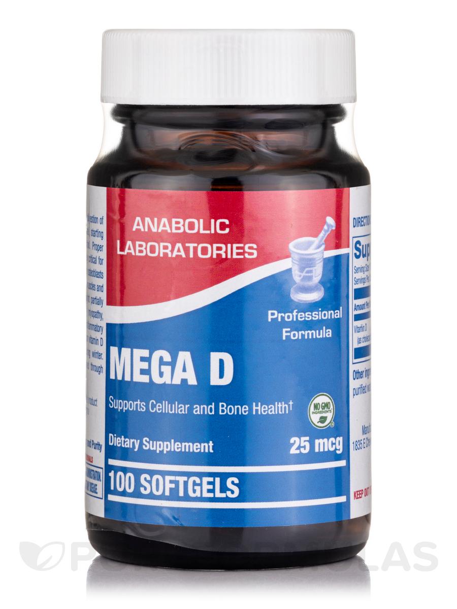 Mega D 1,000 IU - 100 Softgels