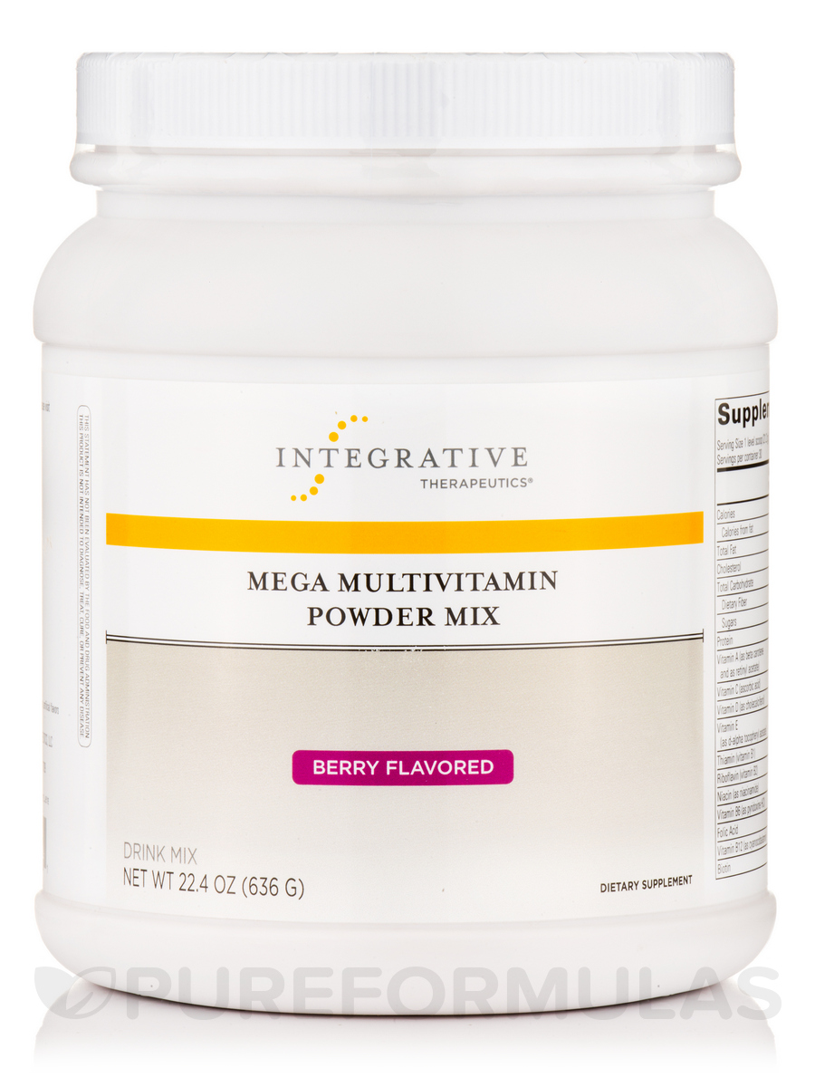 Mega Multivitamin Powder Mix, Berry Flavor - 22.4 oz (636 Grams)