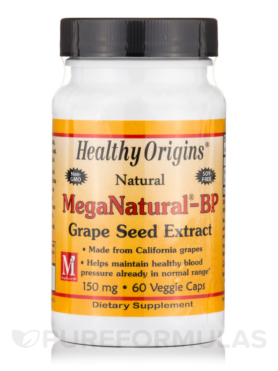 MegaNatural® BP-Grape Seed Extract 150 mg - 60 Capsules