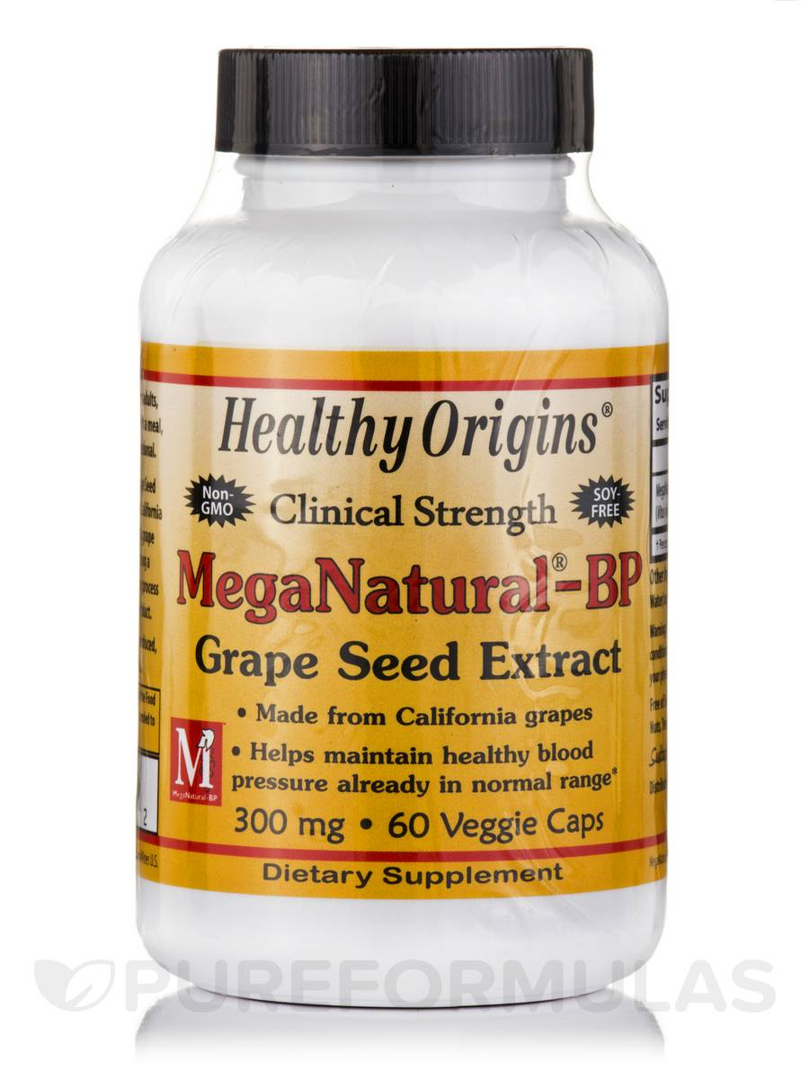 MegaNatural®-BP Grape Seed Extract 300 mg - 60 Veggie Capsules