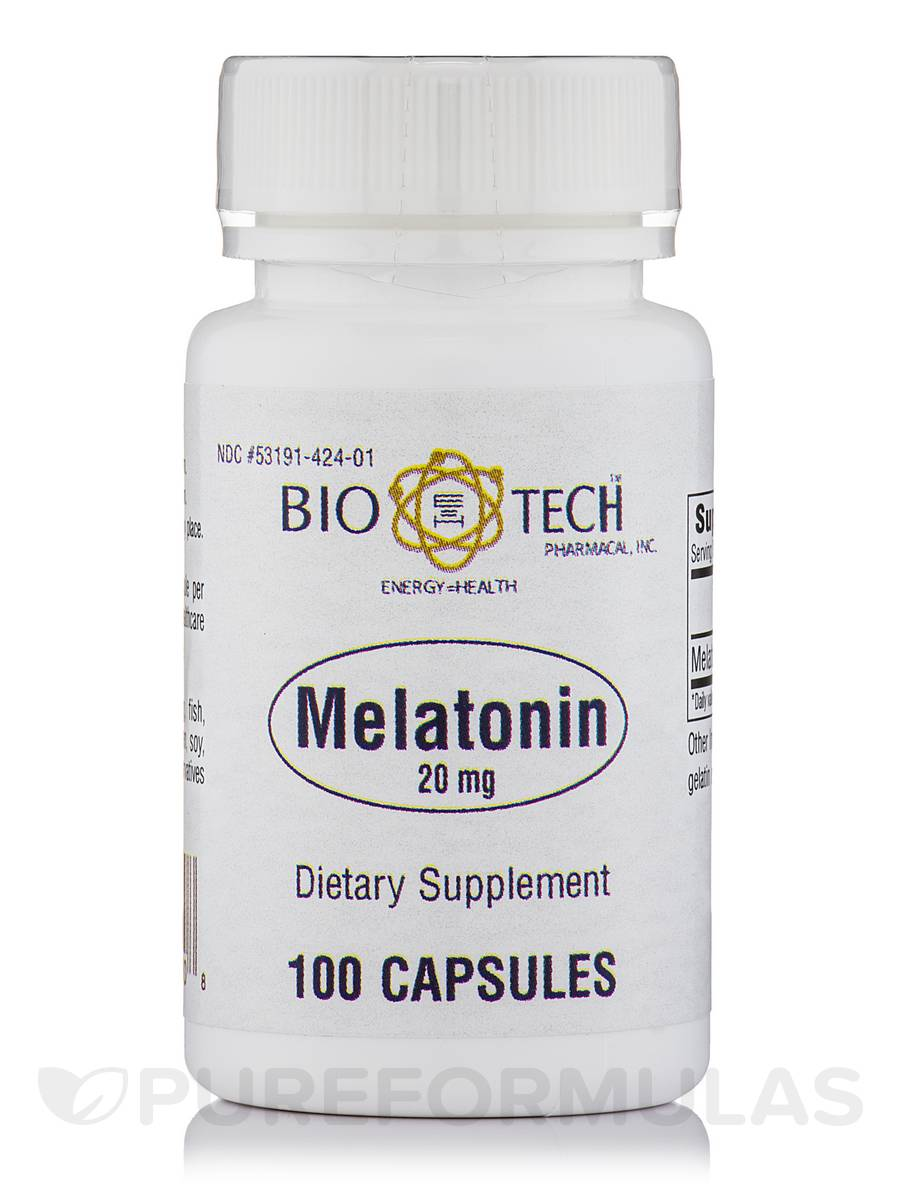 Melatonin 20 mg - 100 Capsules