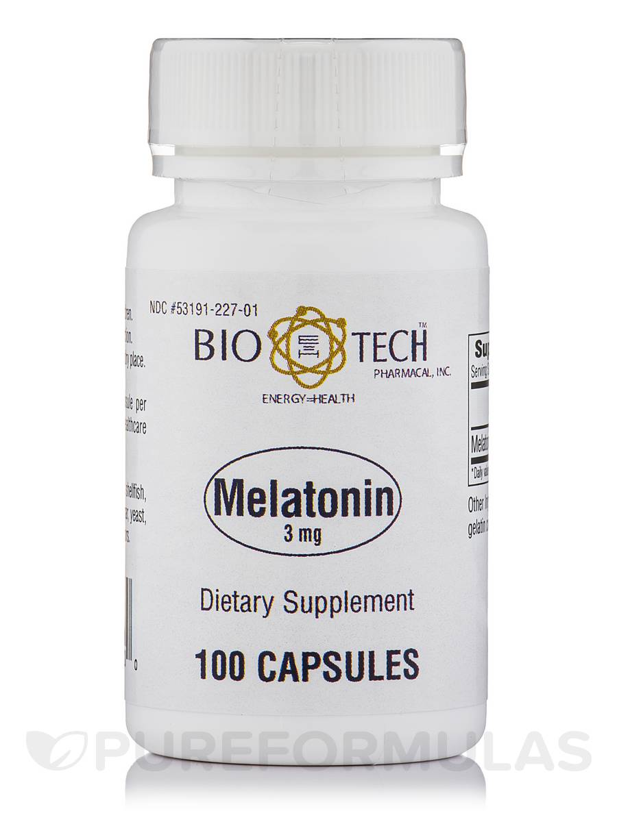 Melatonin 3 mg - 100 Capsules