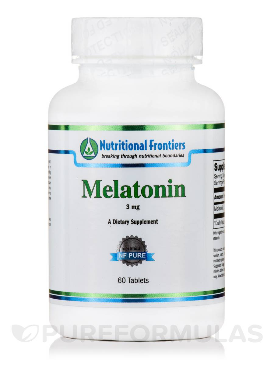 Melatonin 3 mg - 60 Sublingual Tablets