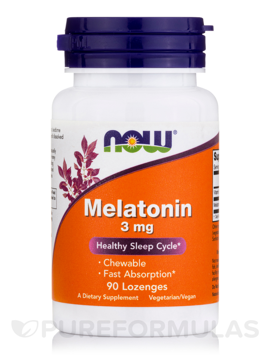 Melatonin 3 mg, Natural Peppermint Flavor - 90 Lozenges