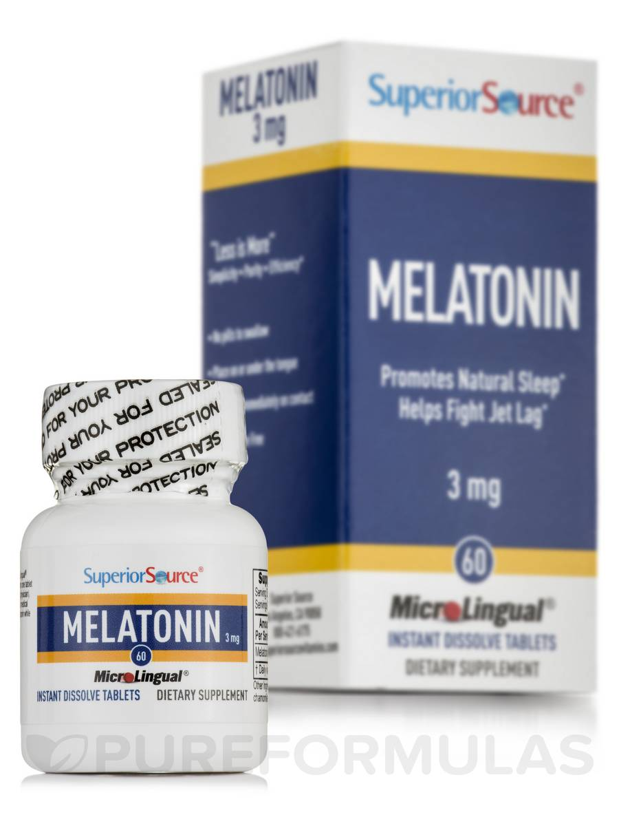 Melatonin 3 mg (with Chamomile) - 60 Dissolvable Tablets