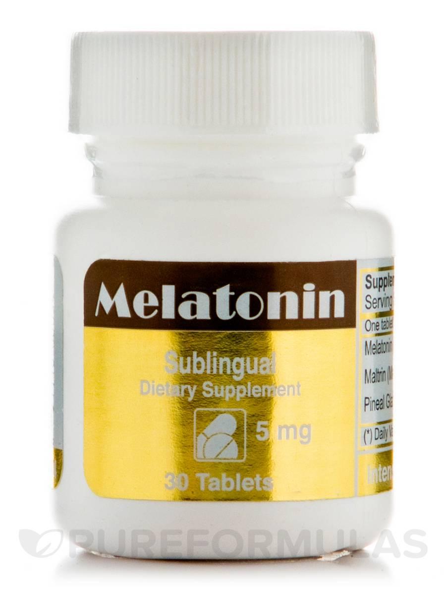 Melatonin 5 mg Sublingual - 30 Tablets