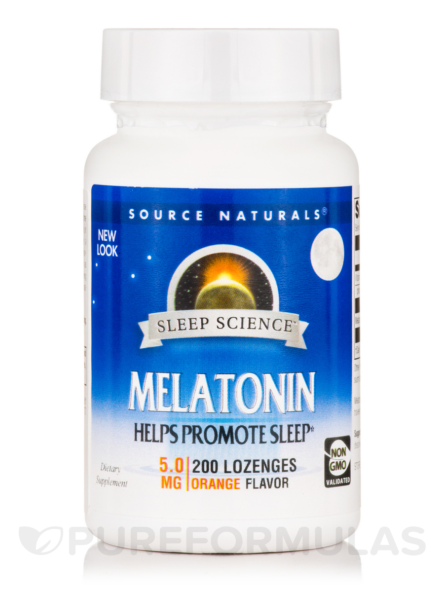 Melatonin 5 mg Sublingual, Orange Flavor - 200 Tablets