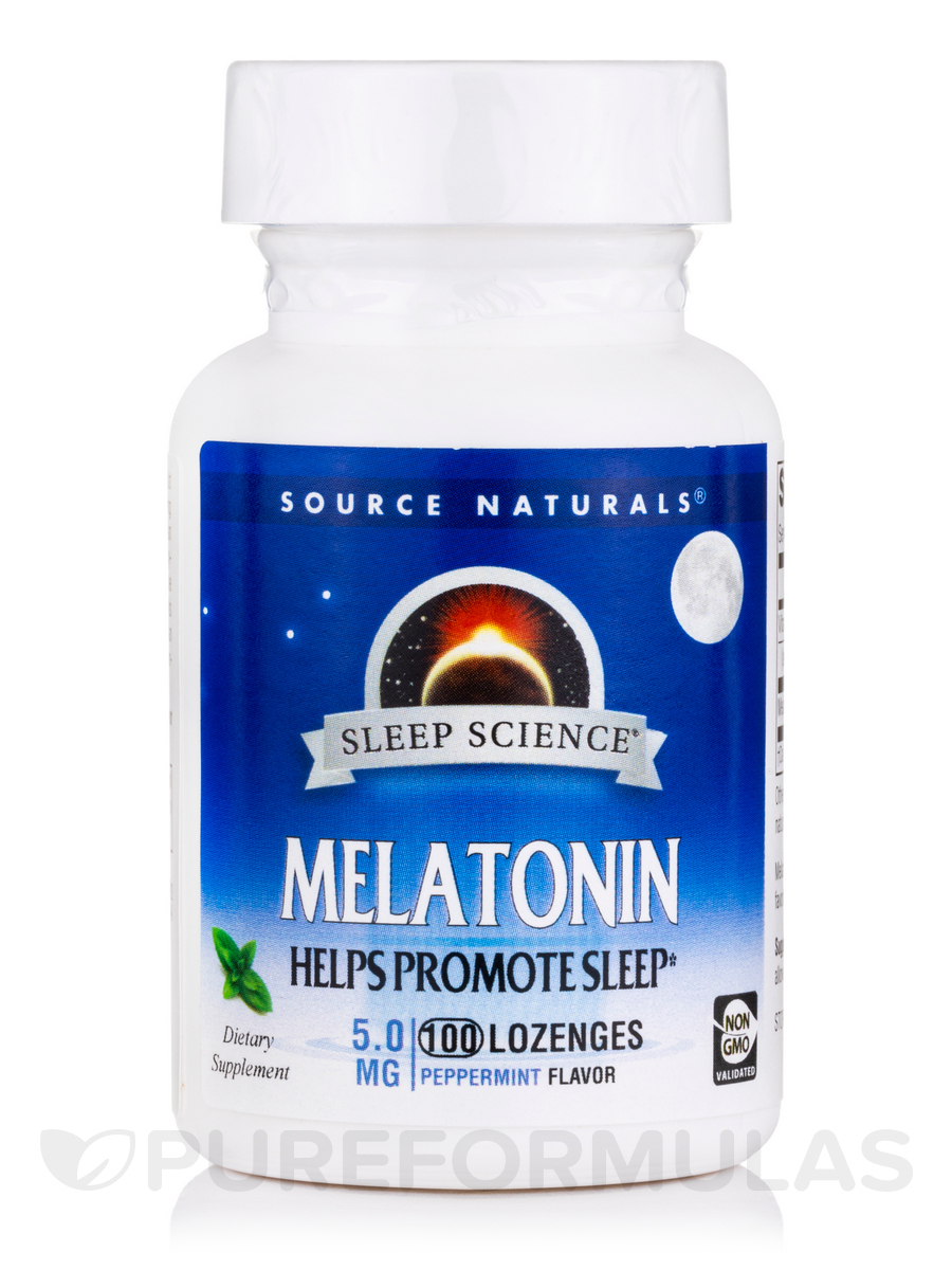Melatonin 5 mg Sublingual Peppermint - 100 Tablets