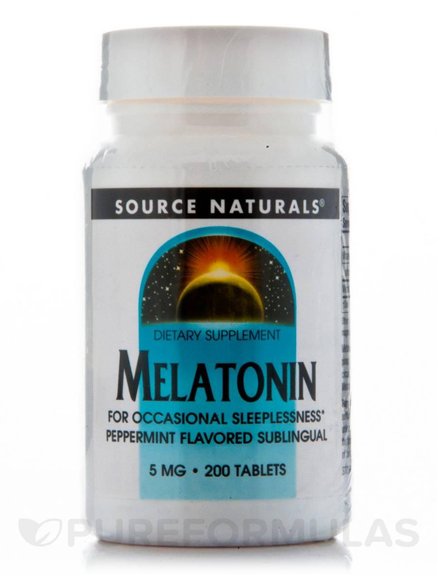 Melatonin 5 mg Sublingual Peppermint - 200 Tablets