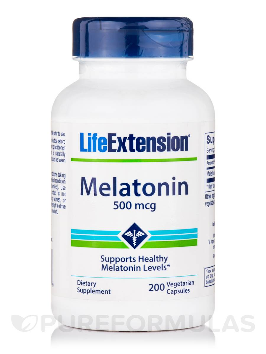 Melatonin 500 mcg - 200 Vegetarian Capsules