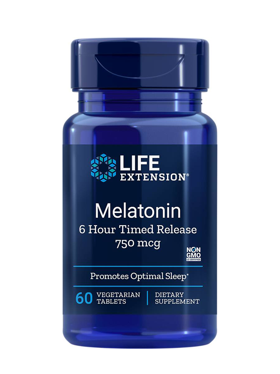 Melatonin (6 Hour Timed Release) 750 mcg - 60 Vegetarian Tablets