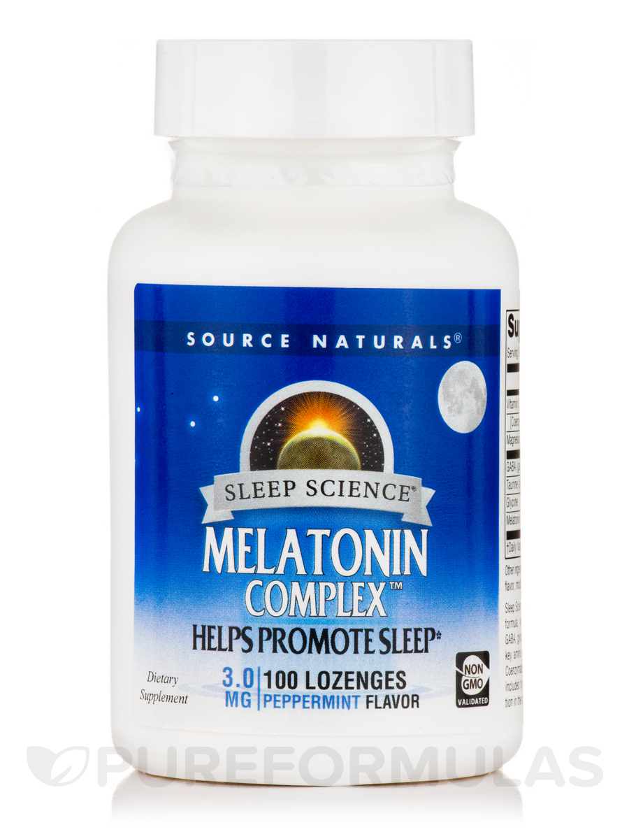 Melatonin Complex Sublingual Peppermint - 100 Tablets
