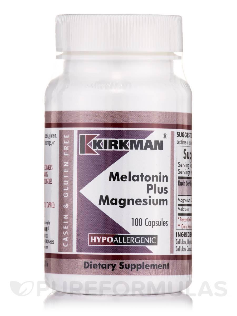 Melatonin Plus Magnesium -Hypoallergenic - 100 Capsules