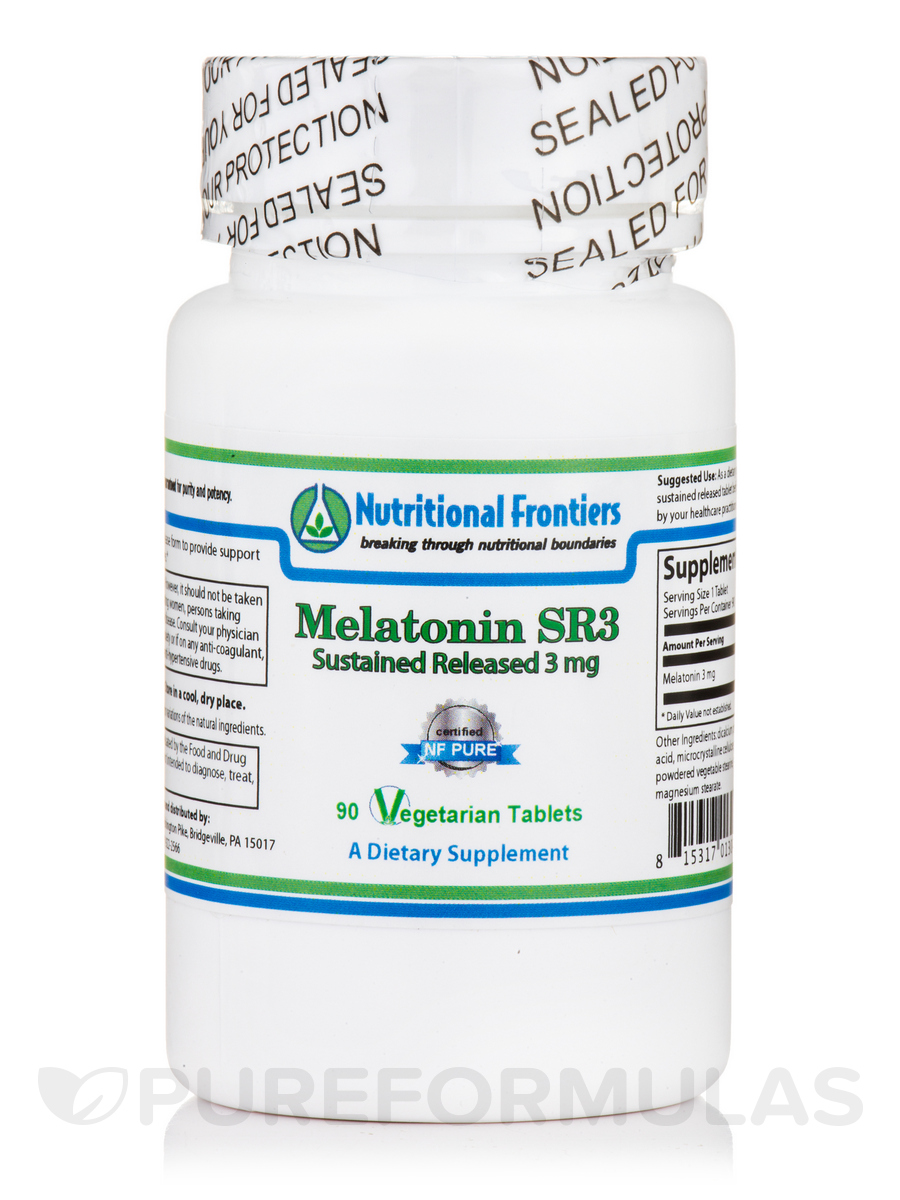 Melatonin SR3 Sustained Release 3 mg - 90 Vegetarian Tablets