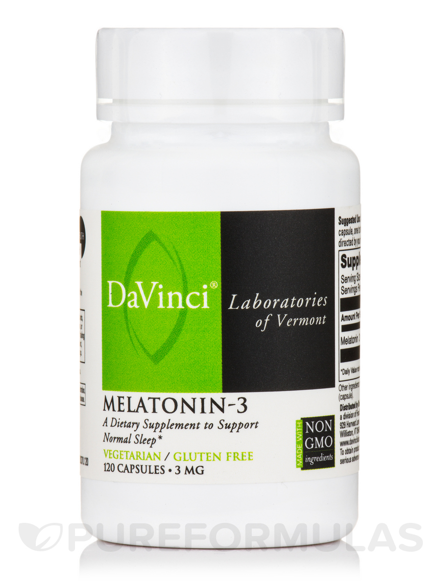 Melatonin-3 3 mg - 120 Capsules