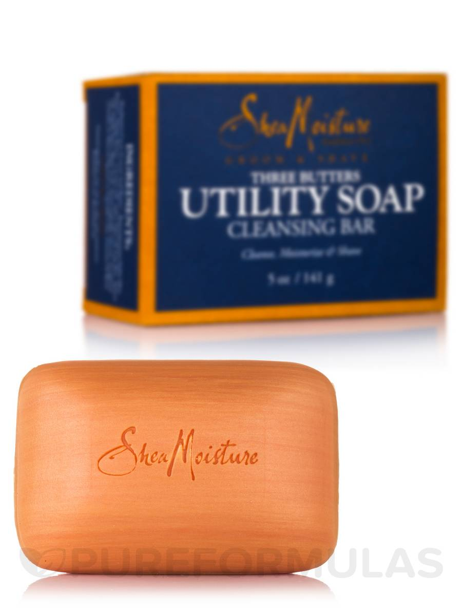 Men's Three Butters Utility Soap Cleansing Bar - 5 oz (141 Grams)
