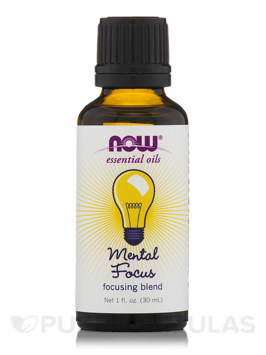 NOW® Essential Oils - Mental Focus Focusing Oil Blend - 1 fl. oz (30 ml)