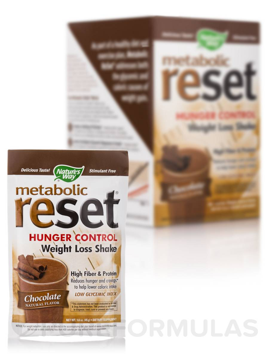 Metabolic Reset Chocolate Shake - 10 Packets (1.6 oz / 45 Grams each)
