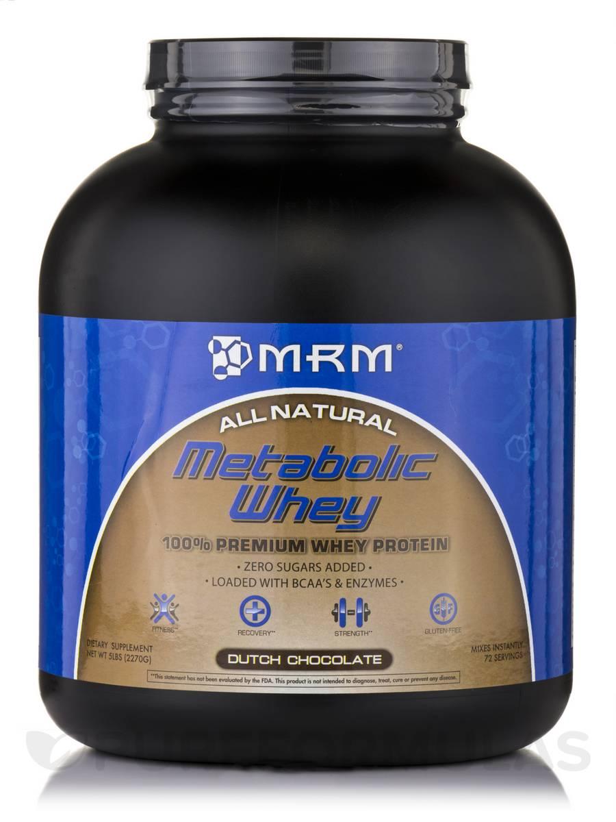 Metabolic Whey™ - 100% Premium Whey Protein Dutch Chocolate Flavor - 5 lbs (2270 Grams)