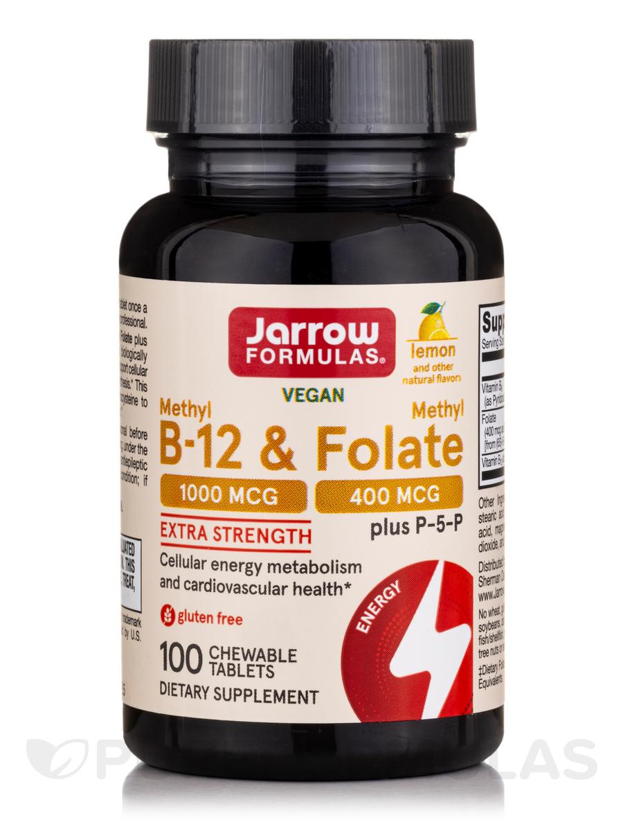 Methyl B-12 1000 mcg & Methyl Folate 400 mcg, Lemon Flavor - 100 Lozenges