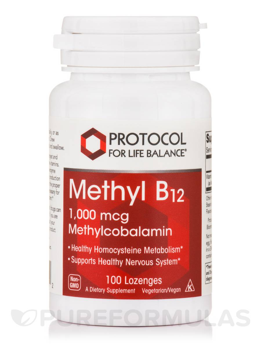 Methyl B12 1,000 mcg - 100 Lozenges