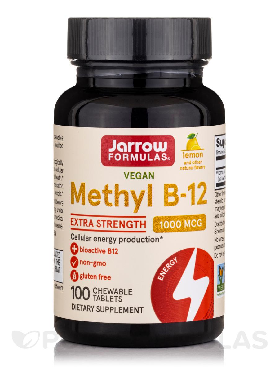 Methyl B-12 1000 mcg Lemon Flavor - 100 Lozenges